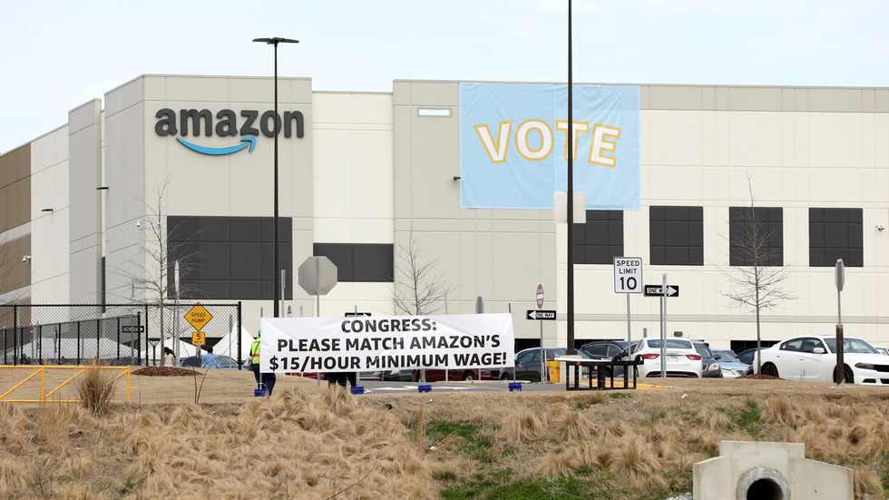 'Our system is broken': Amazon accused of 'illegal & egregious' behavior as early voting results deal blow to unionizing drive